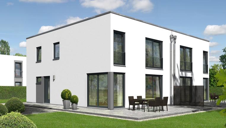 Das doppelhaus city 140 ihr town country massivhaus for Doppelhaus modern bauen