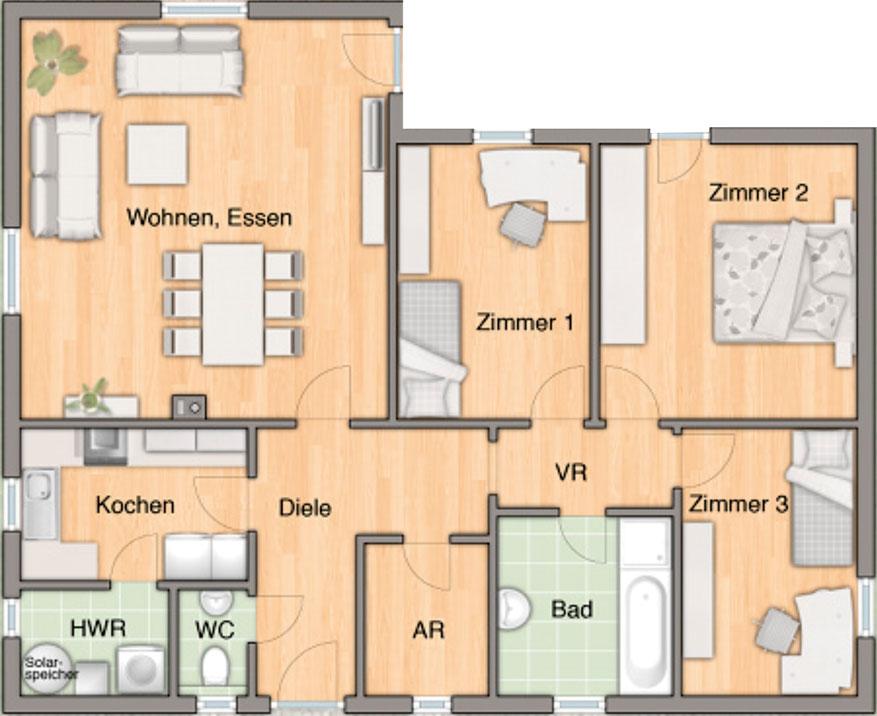 7 Zimmer Bungalow Innenraum ~ Beste Bildideen zu Hause Design